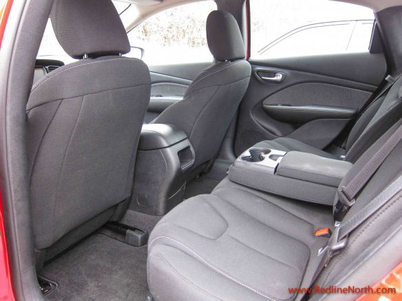 Ample rear legroom