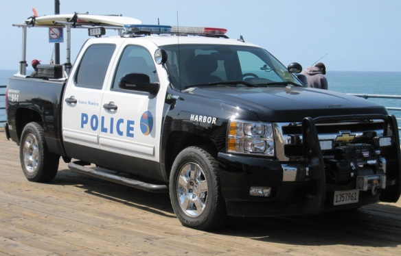 Santa Monica Harbour Police truck