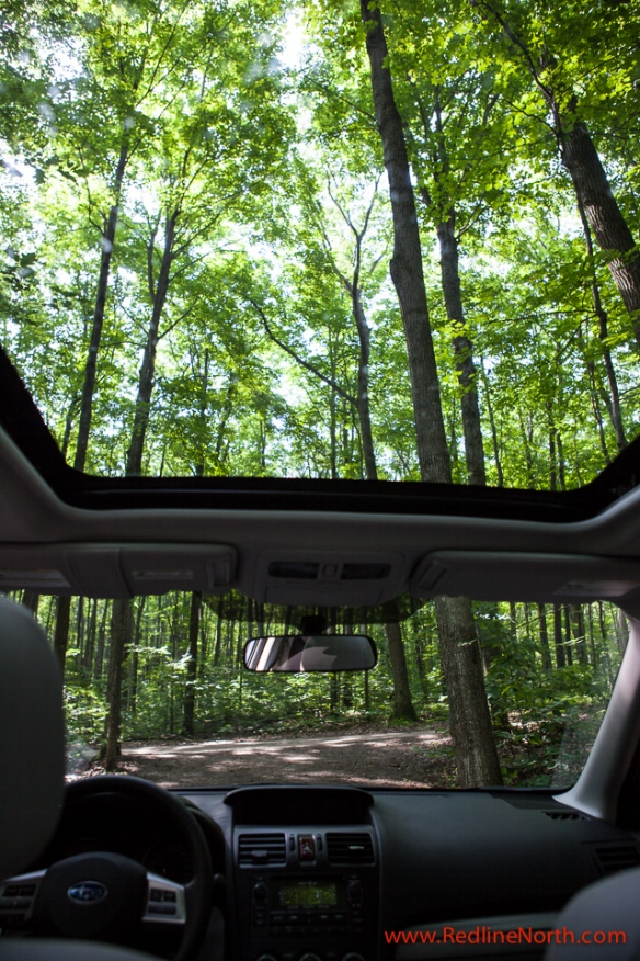 RedlineNorth appreciated the extra large sunroof which comes standard in the 2.5i Touring Edition