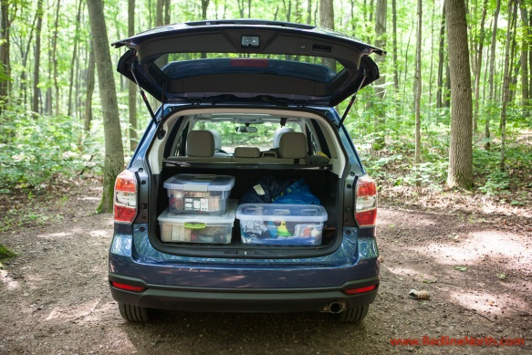 Rear cargo space in the Forester was plentiful and easily accessible