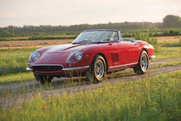 A Ferrari 275 GTB/4*S N.A.R.T. Spider recently sold at auction for $27.5 million
