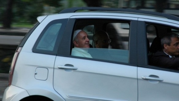 Pope Francis in Fiat Idea