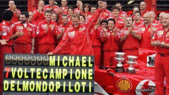 Michael Schumacher Seven championships