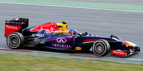 Sebastian Vettel  2013 Red Bull RB9 race car