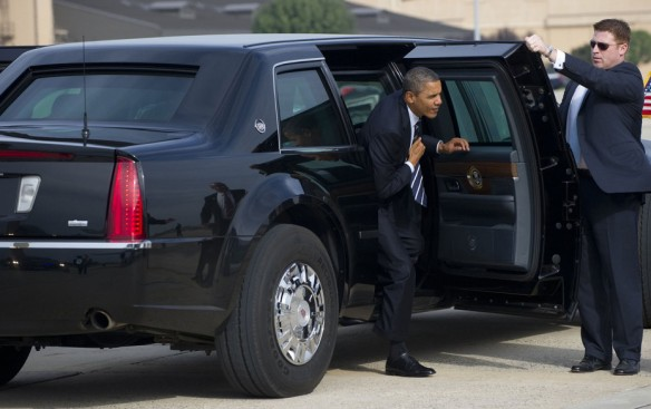 Presidential limo otherwise known as The Beast