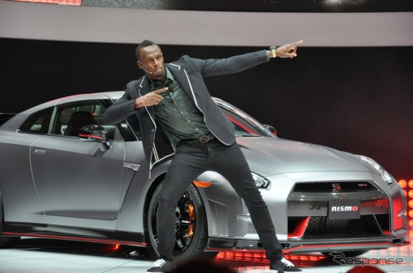 Usain Bolt with GT-R Nismo