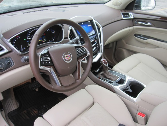 Interior of Cadillac SRX