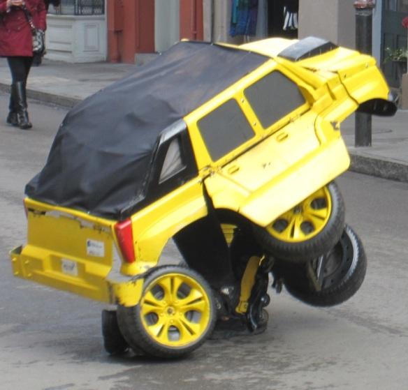 Transformer street performer
