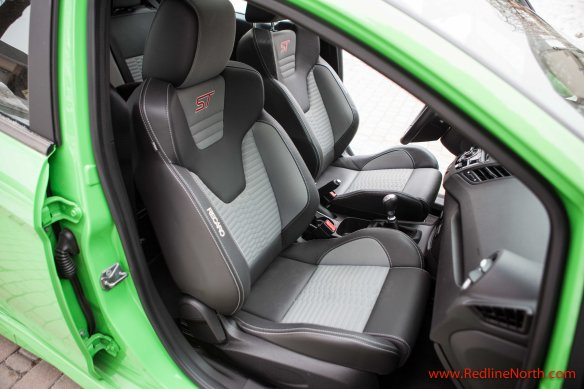 The Recaro seats quite literally put you in your place and keep you there
