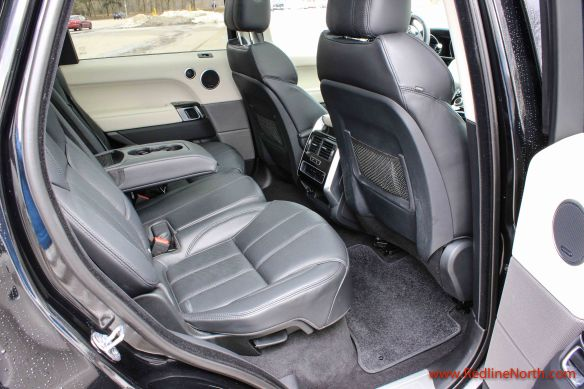 Back seat of Ranger Rover Sport