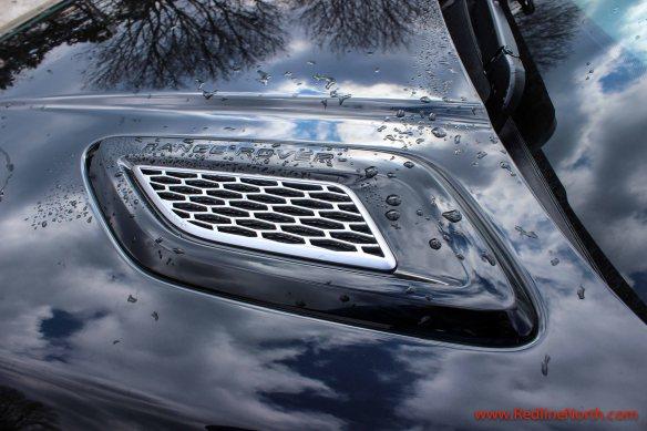 Motor hood of Range Rover Sport